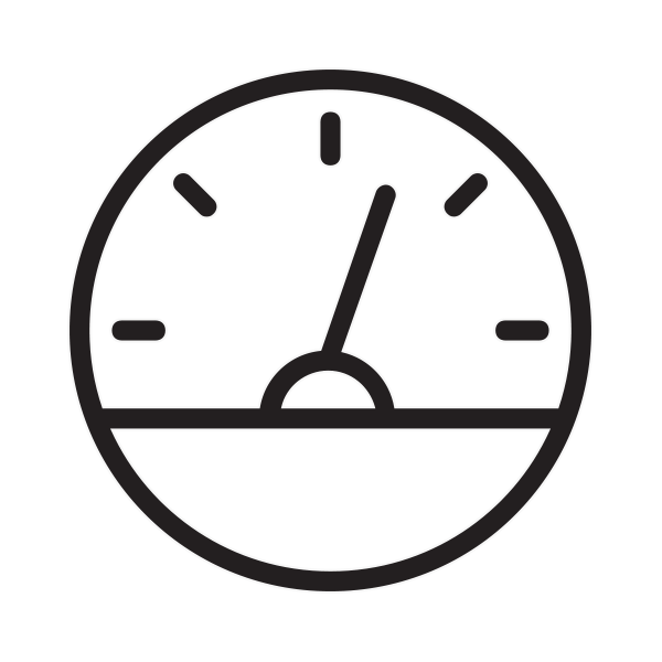 Half full fuel metre icon