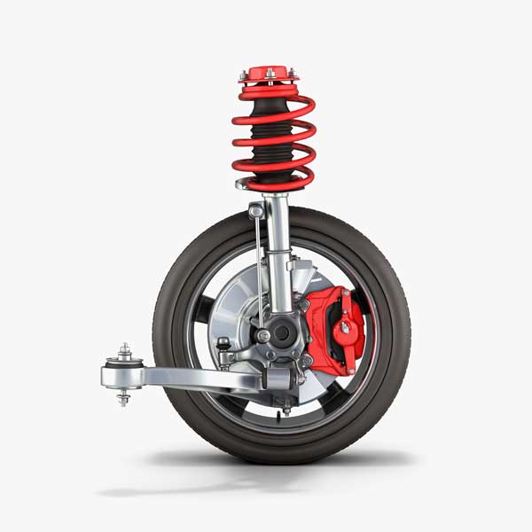 Car wheel and suspension components